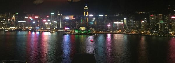 Hong Kong - Harbor at night