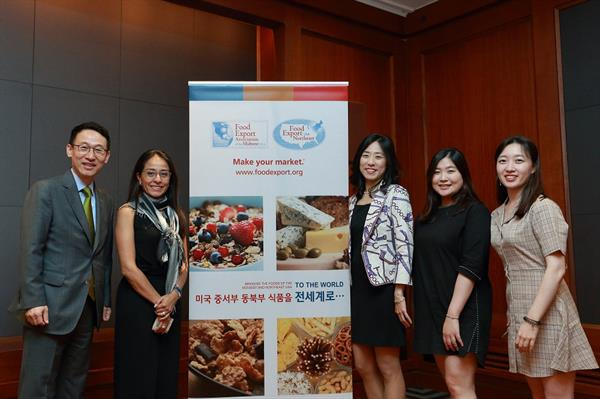 South Korea - IMRs and Teresa Miller with Food Export Sign