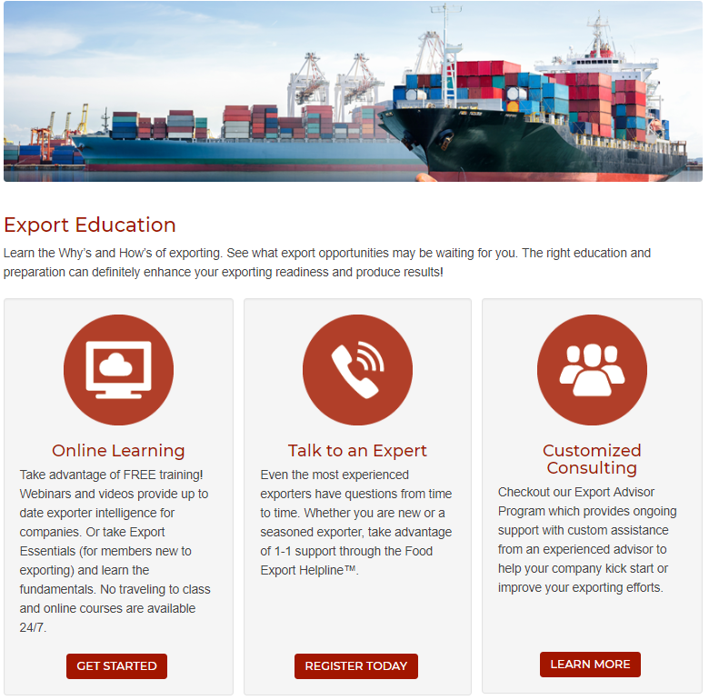 Export Education - screenshot