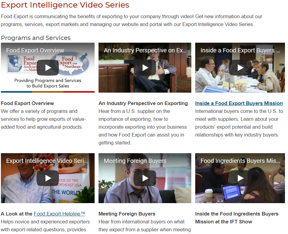 Export Intelligence Video Series